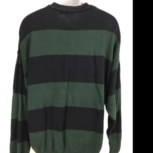 Nautica Mens Sweater Blue White US Size XL Striped Long Sleeve Crewneck $79 #068